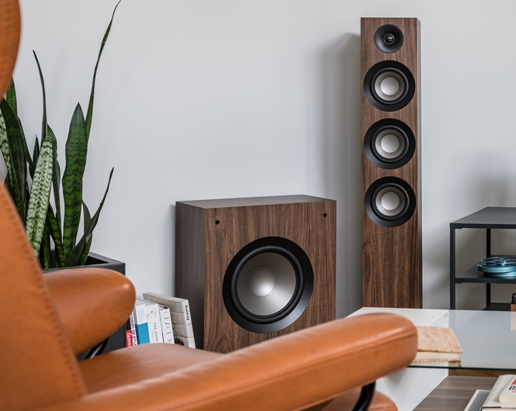 Loa SUB Jamo S808 (White, Walnut)
