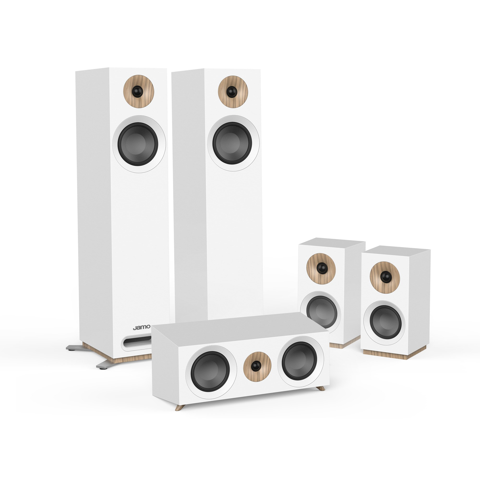 Loa Jamo S805 HCS (White, Walnut)