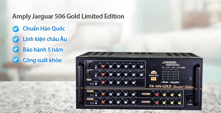 amply karaoke Jarguar Suhyoung PA-506 GOLD Limited Edition