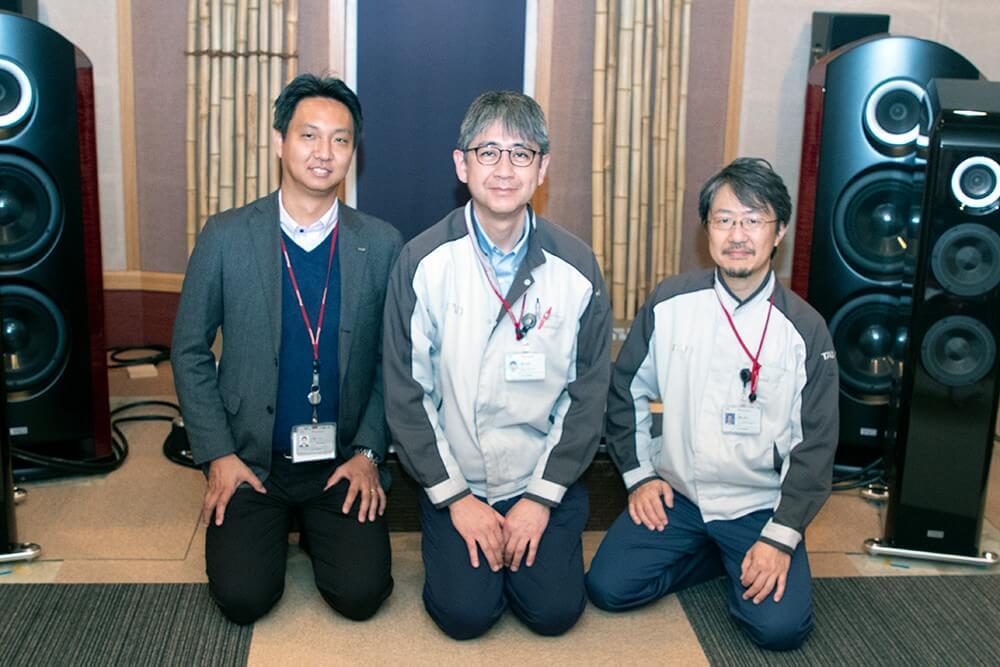 Trái sang phải: Kazuto Okura, Shinji Tarutani và Hiromitsu Numazaki.